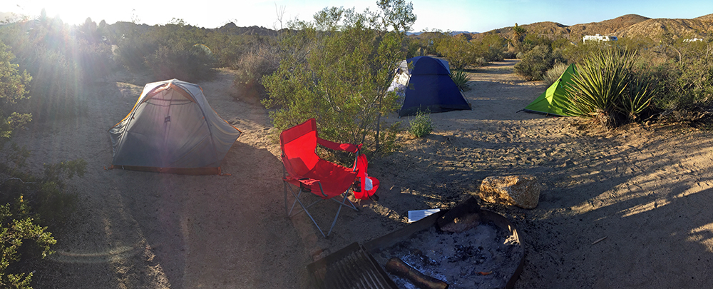 Campsite at Cottonwood Campground.