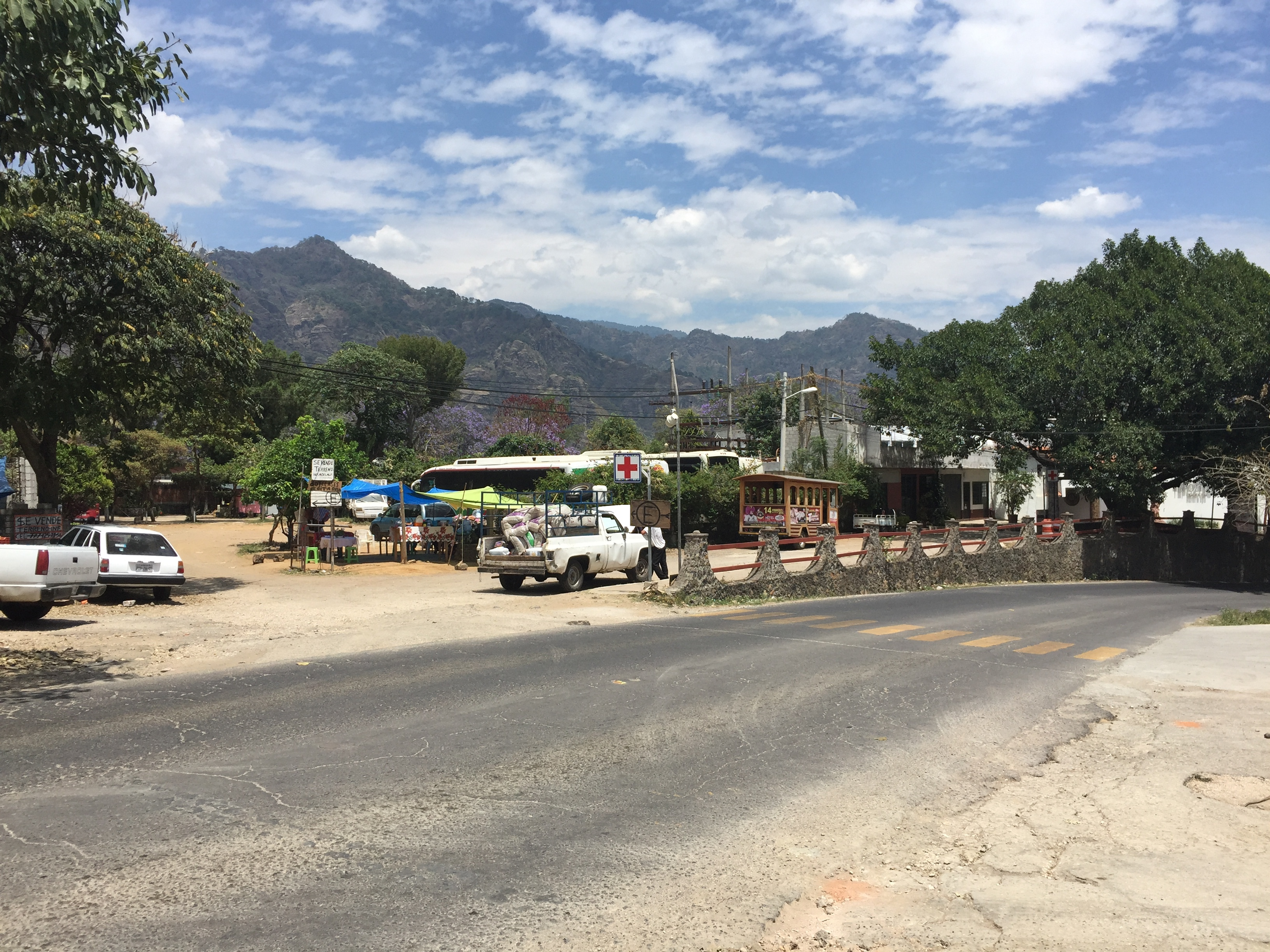 Empty street in Tepoztlan.