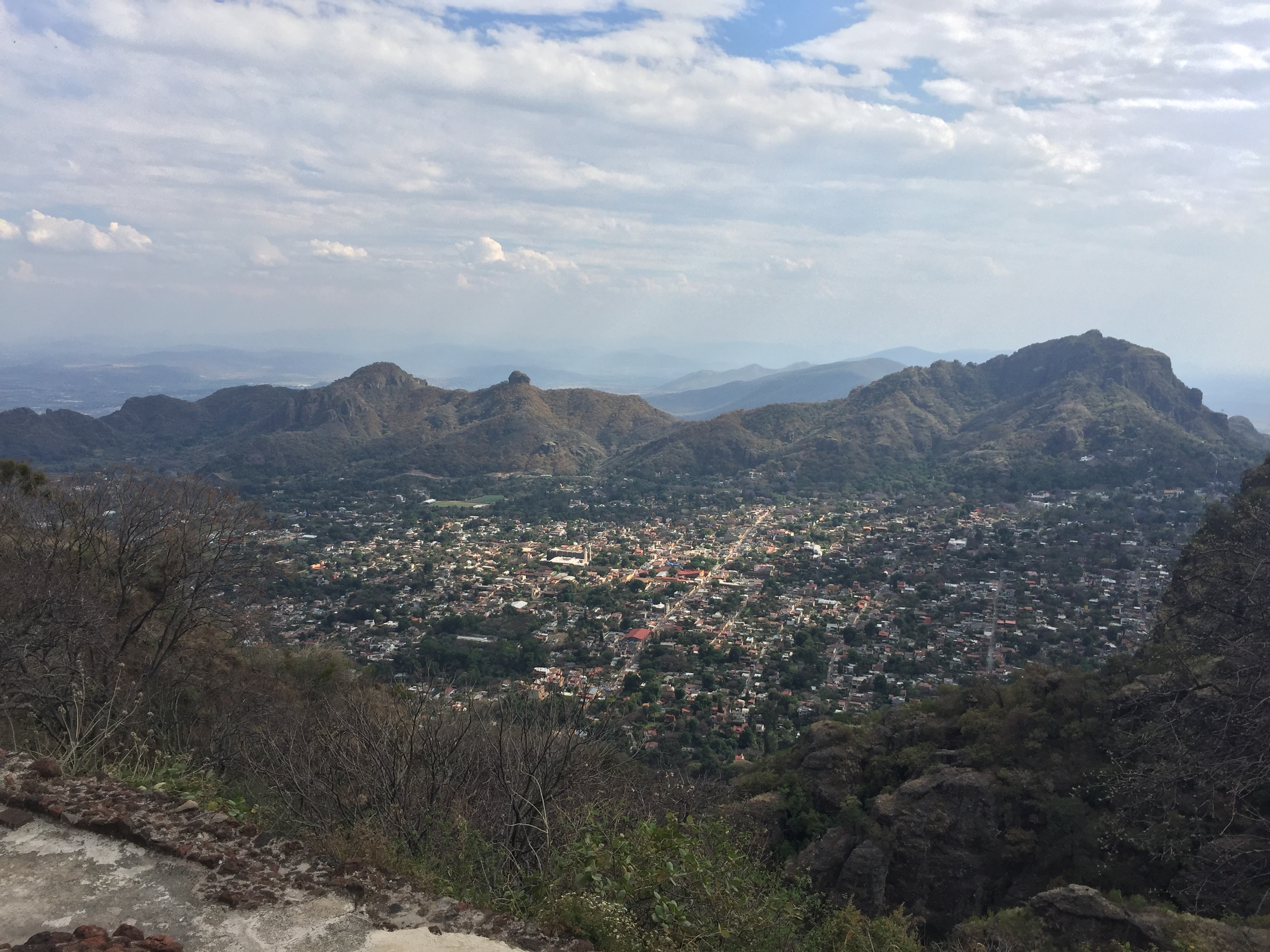 View of Tepoztlan from above.