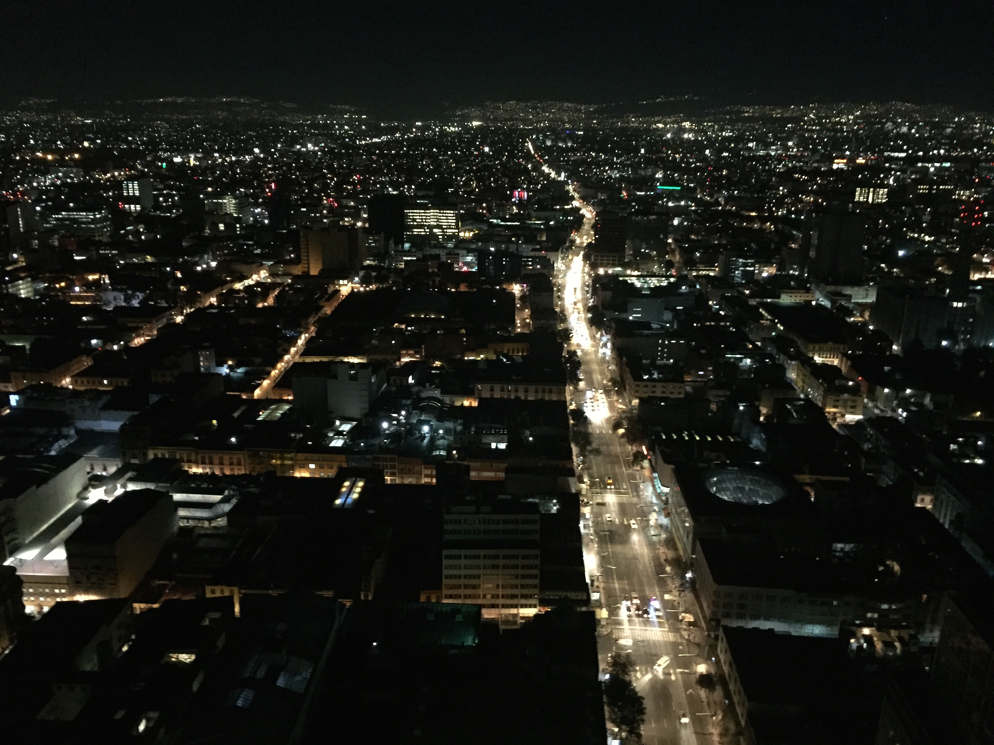 Mexico City at night.