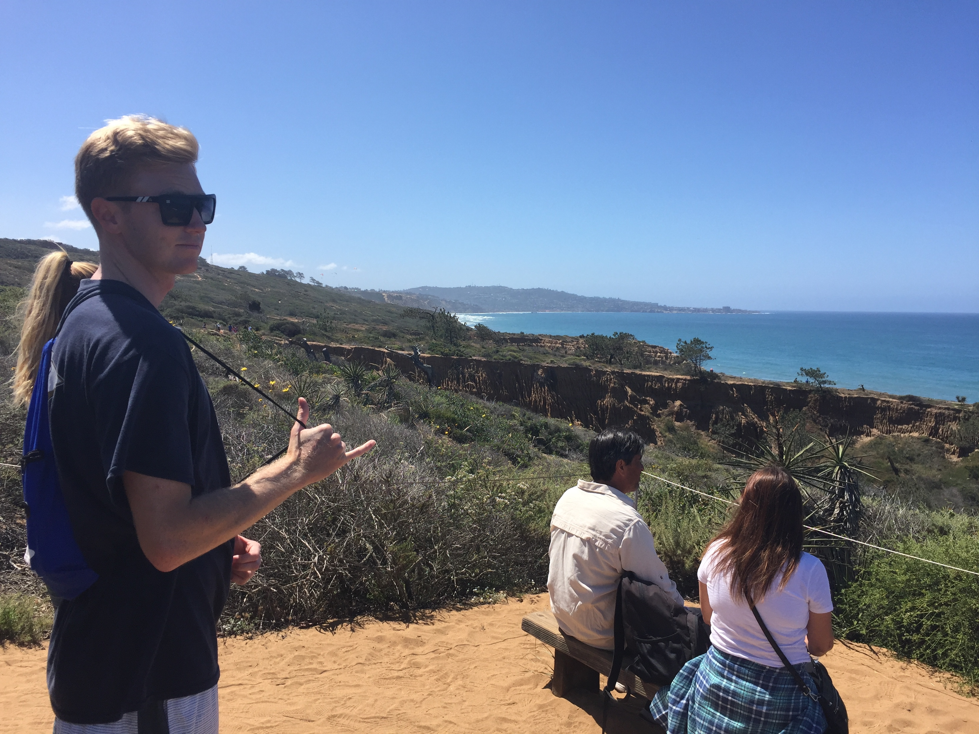Nate Reed hanging out at Torrey Pines.