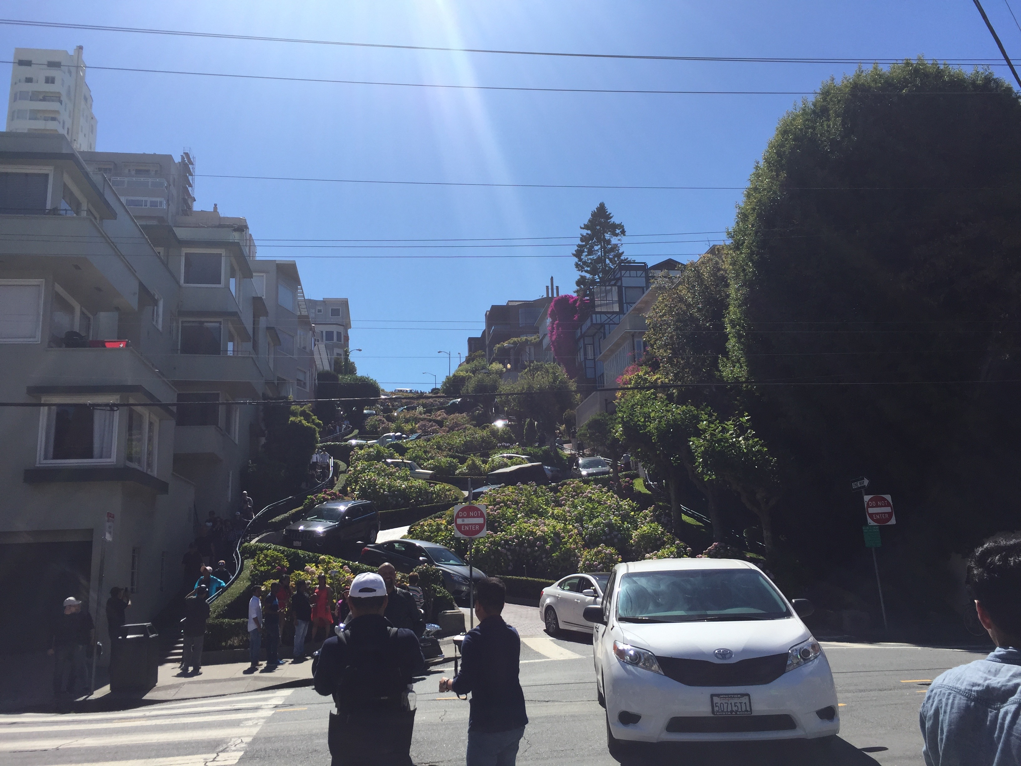 Lombard street traffic in San Francisco.