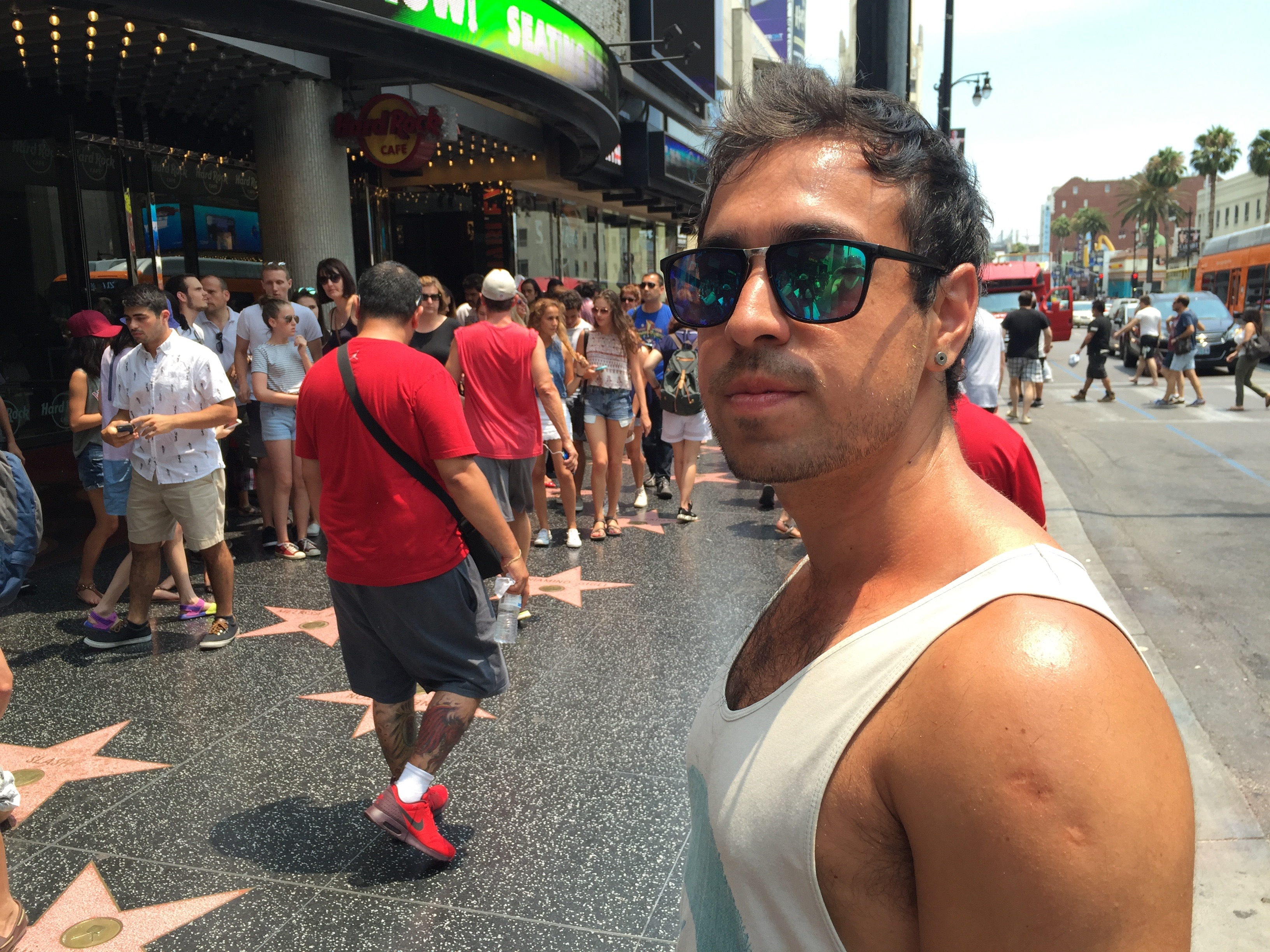 A Chilean walking in Hollywood.