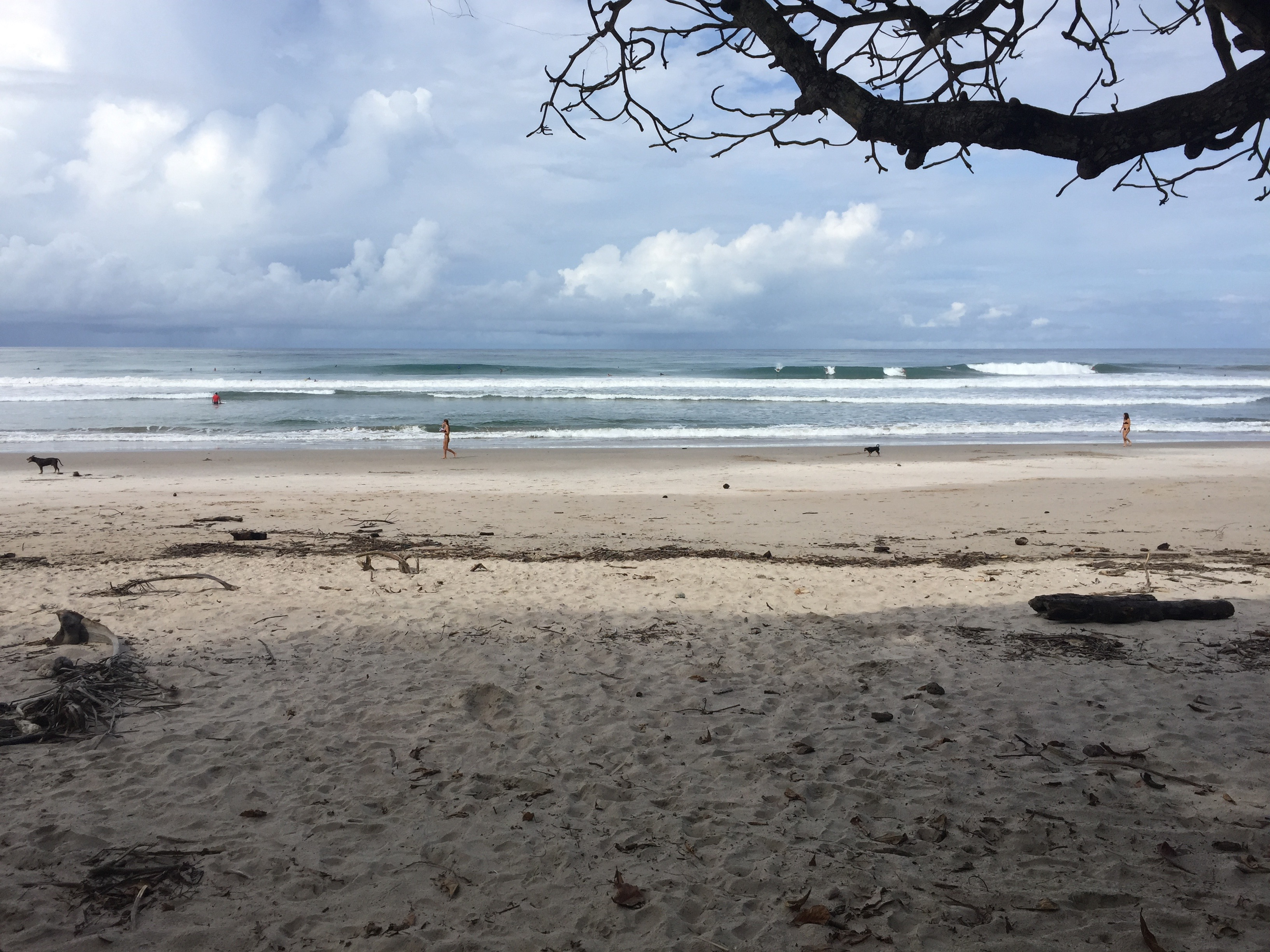 An empty Costa Rican beach in Santa Teresa.