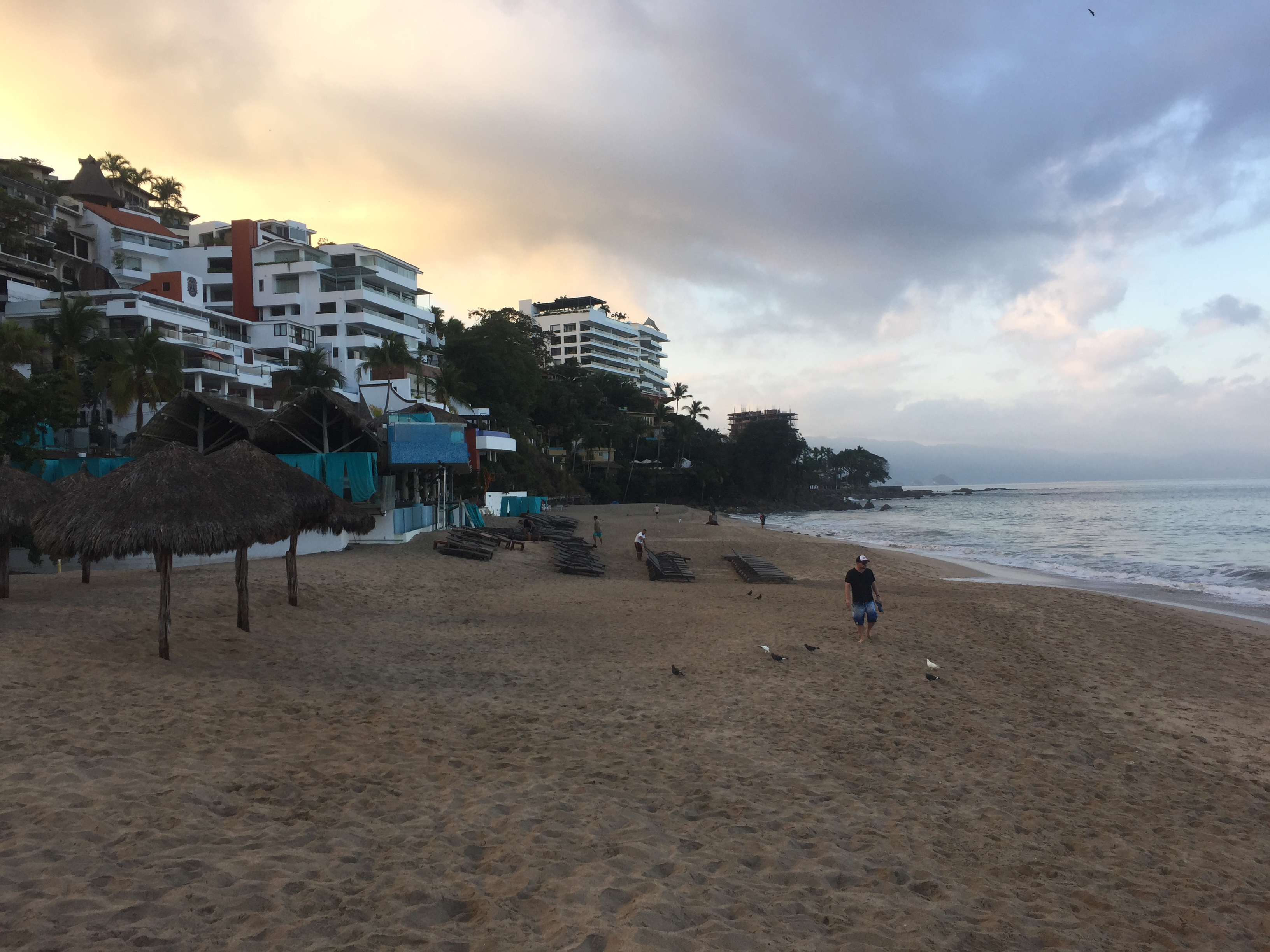 Sunrise at Los Muertos Beach in Puerto Vallarta.