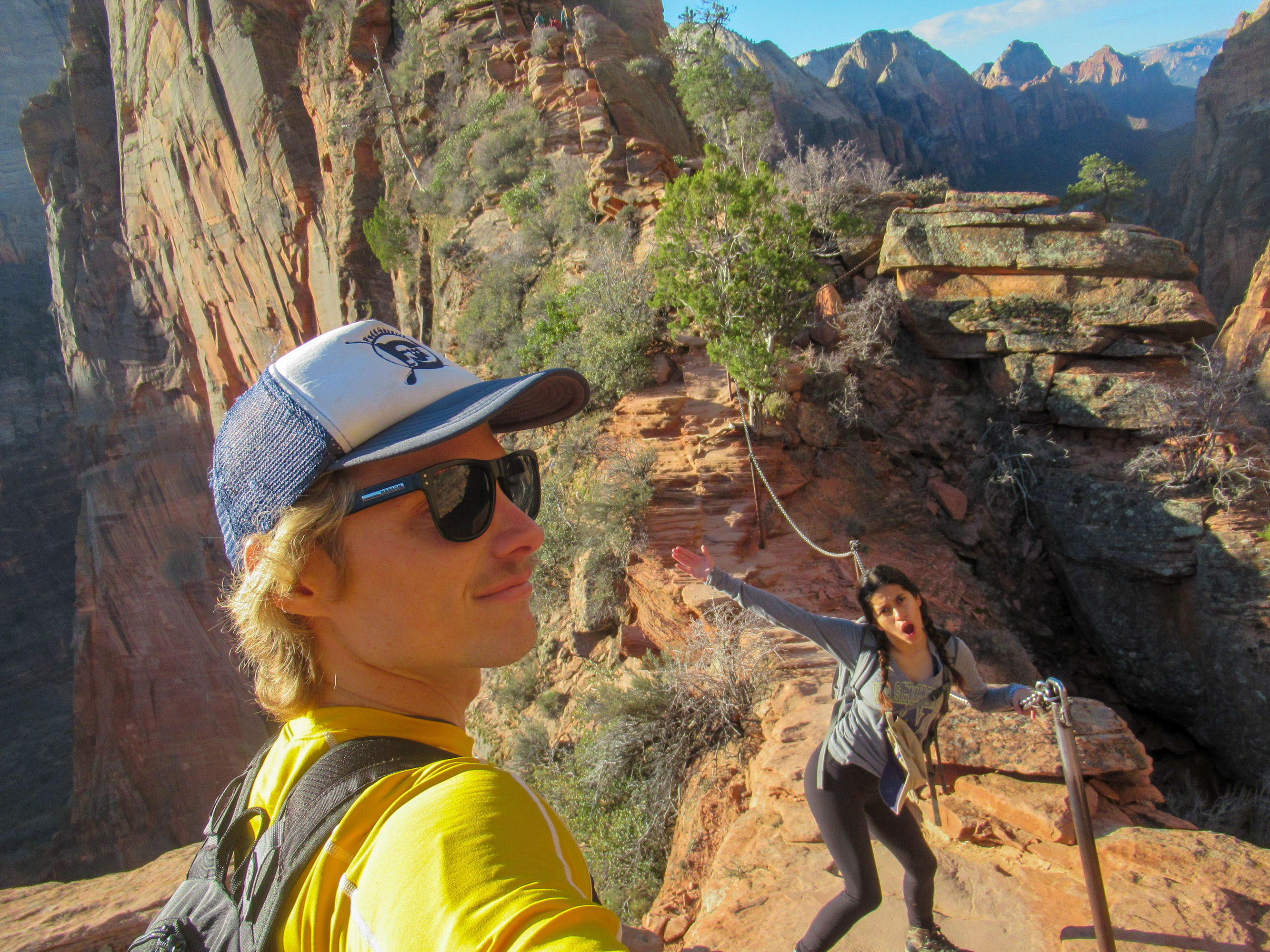 Starting the trail to Angels Landing in Zion.