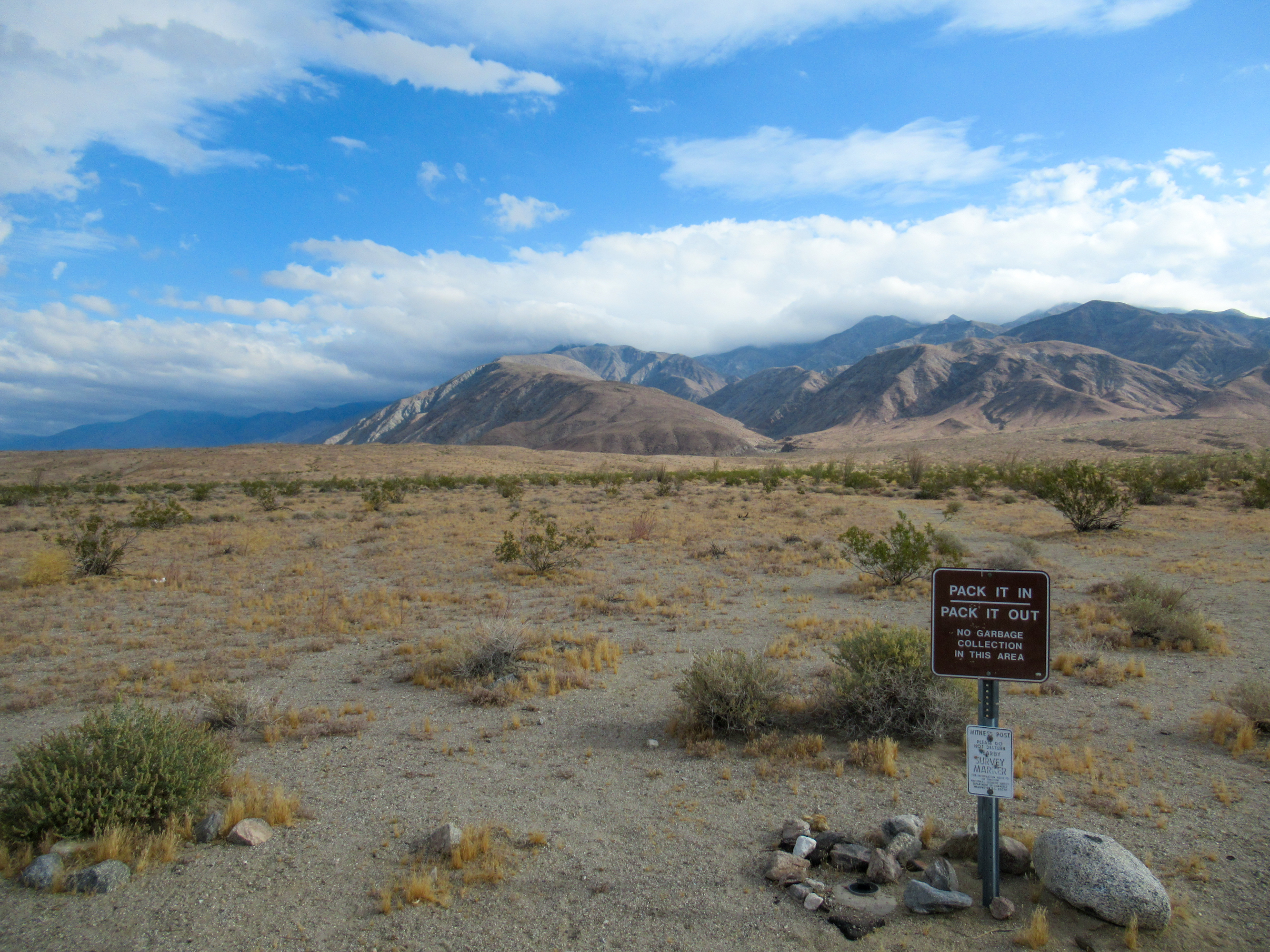 Trailhead for Rabbit Peak in the Anza Borrego desert.