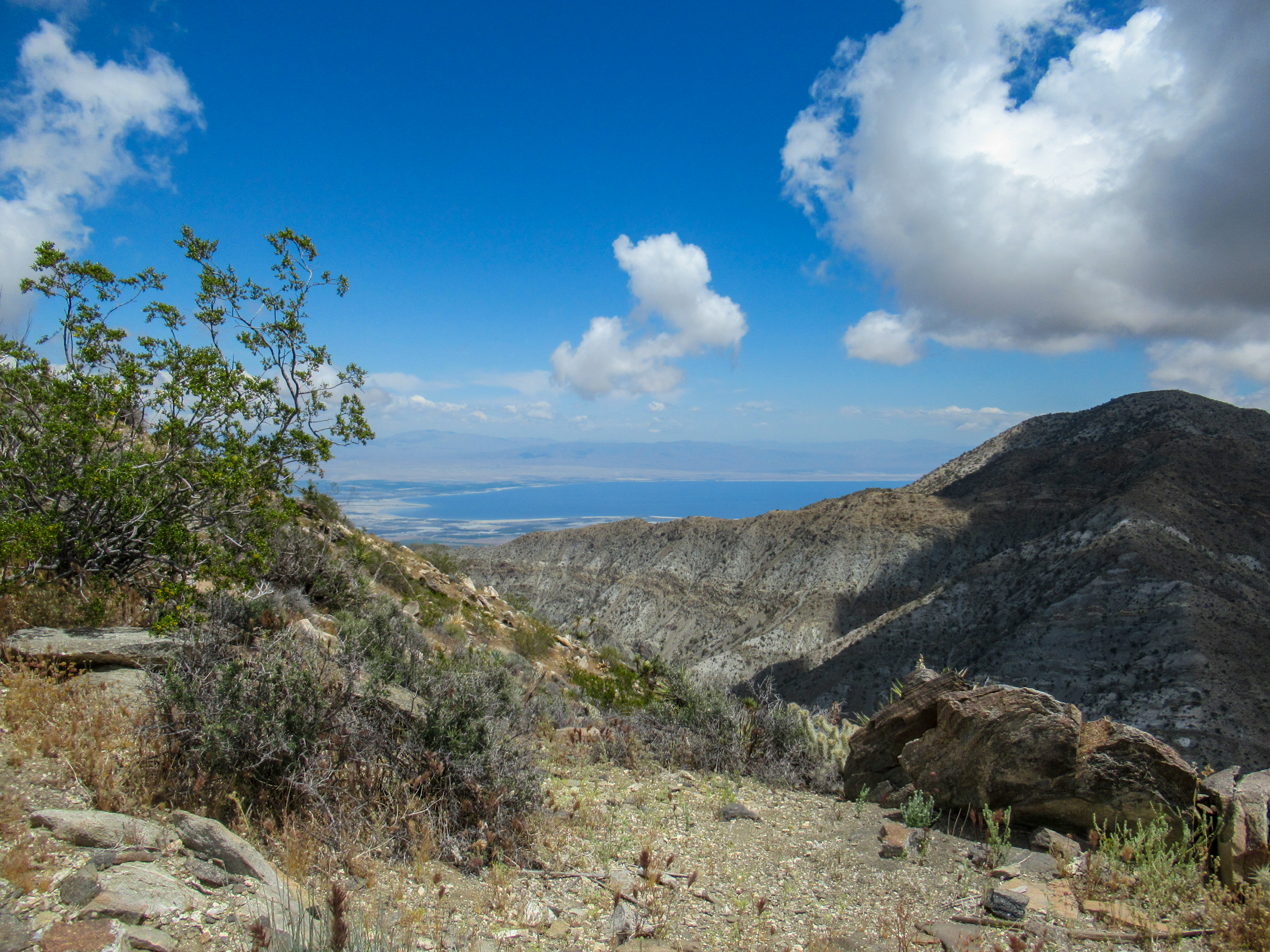 Views of the Salton Sea and Mile High Mountain.