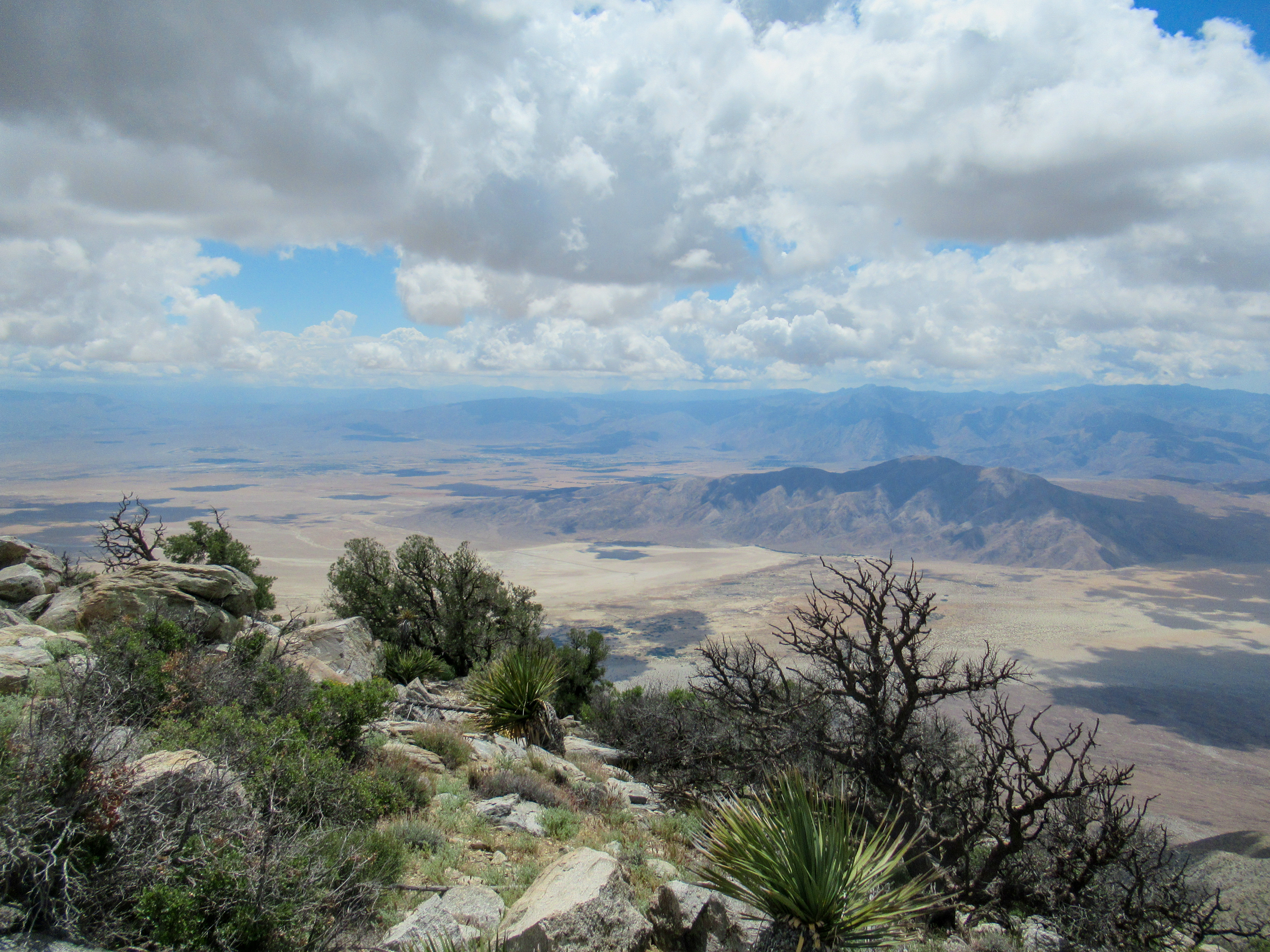 Views of Borrego Springs from Villager Peak.