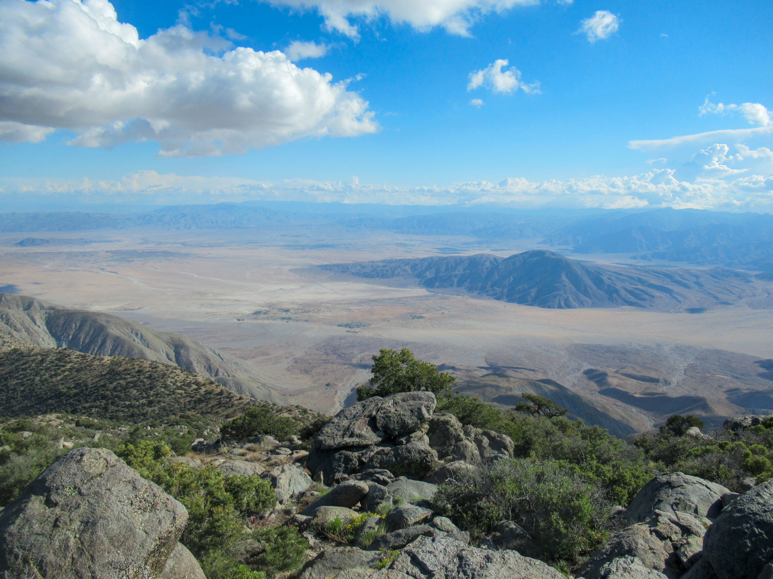 View of Clark Dry Lake from atop Rabbit Peak.