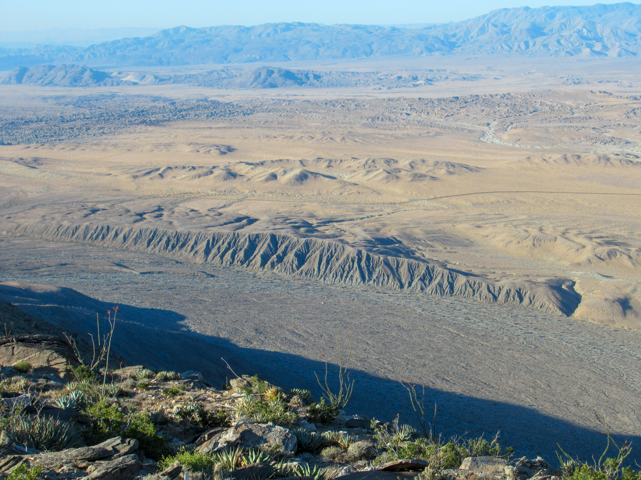 A fault line in the Anza Borrego desert.
