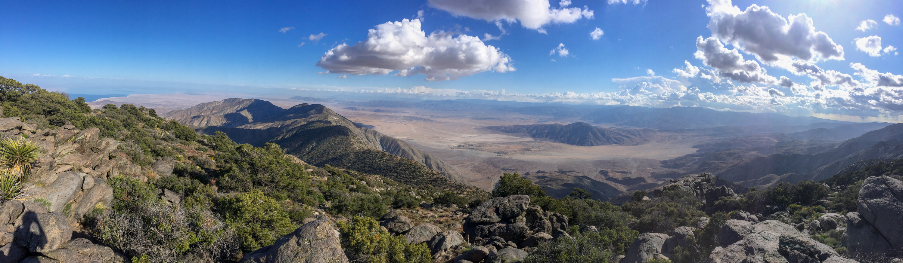 Panoramic view of the desert from atop Rabbit Peak.