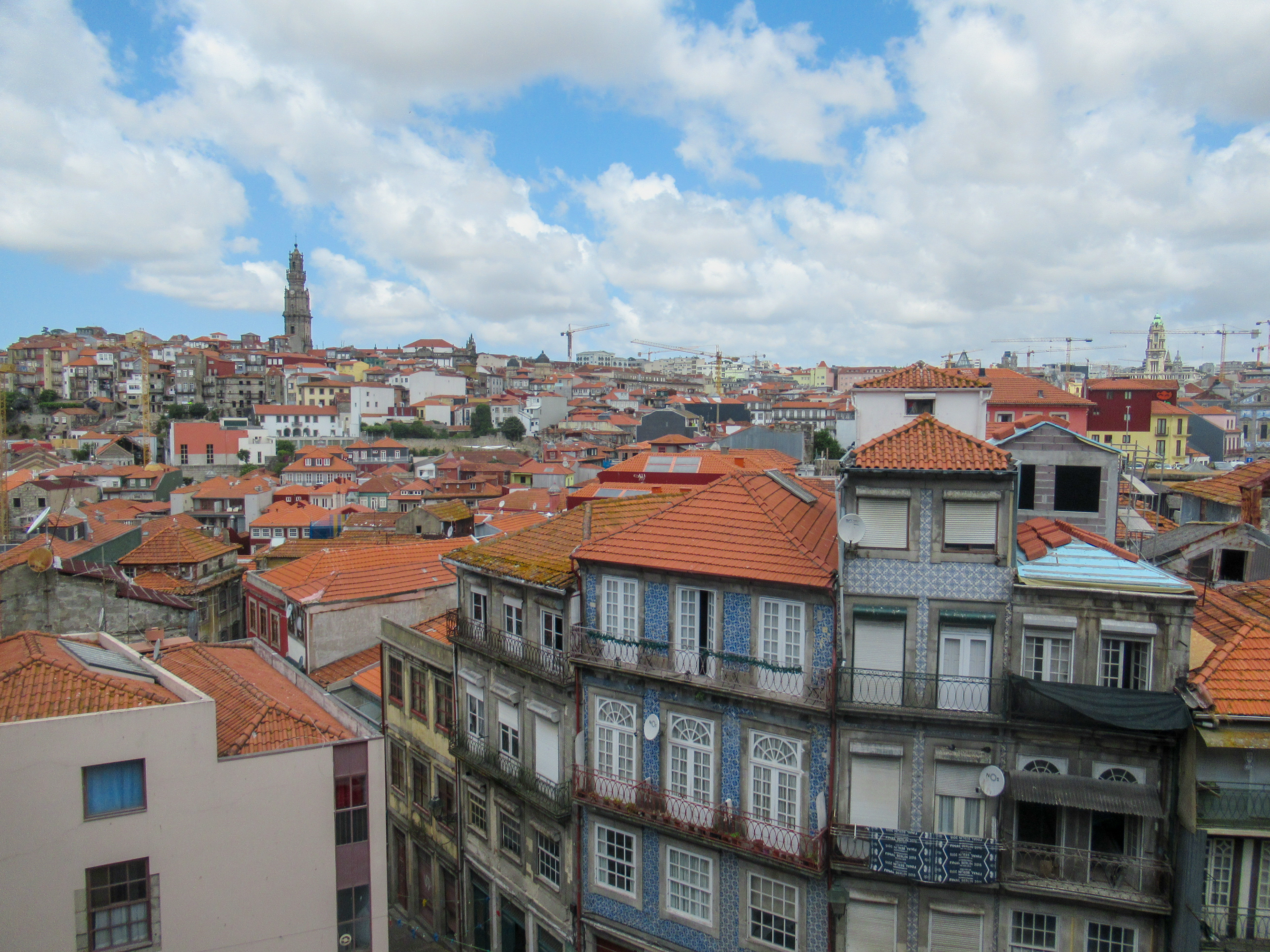 Tiled roofs in Porto, Portugal.