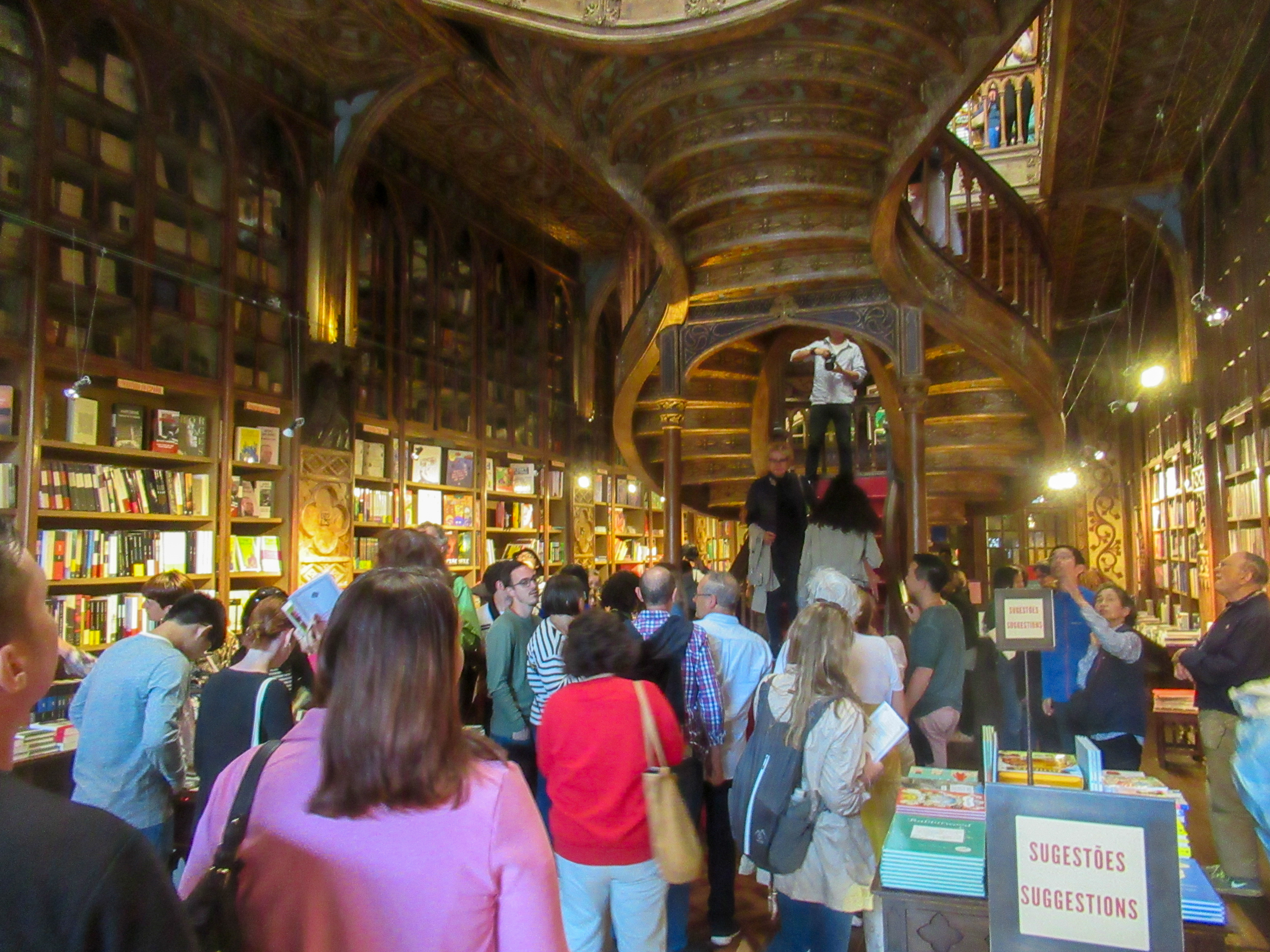 Lello bookstore in Porto, Portugal.