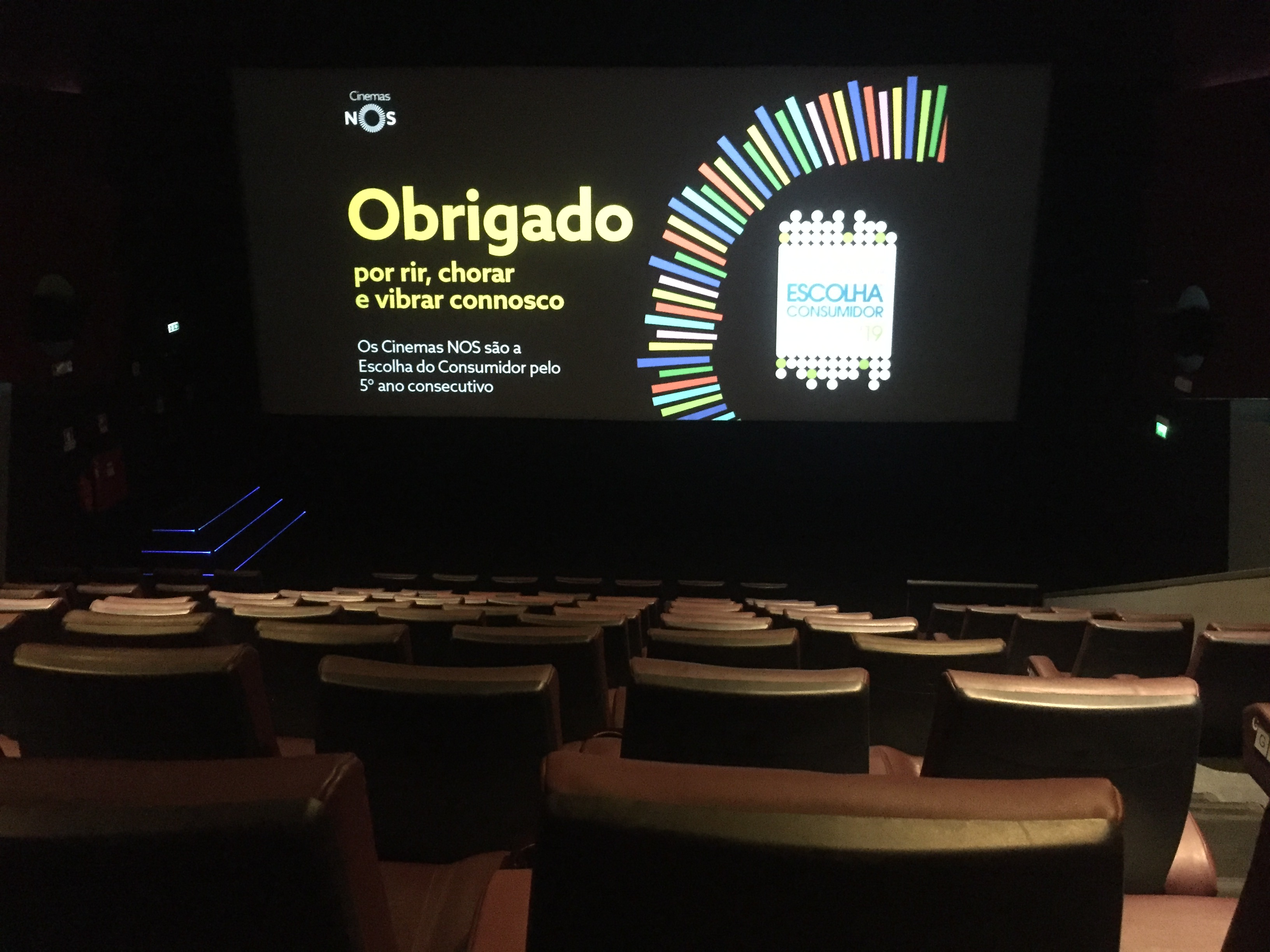 An empty movie theatre in Portugal.