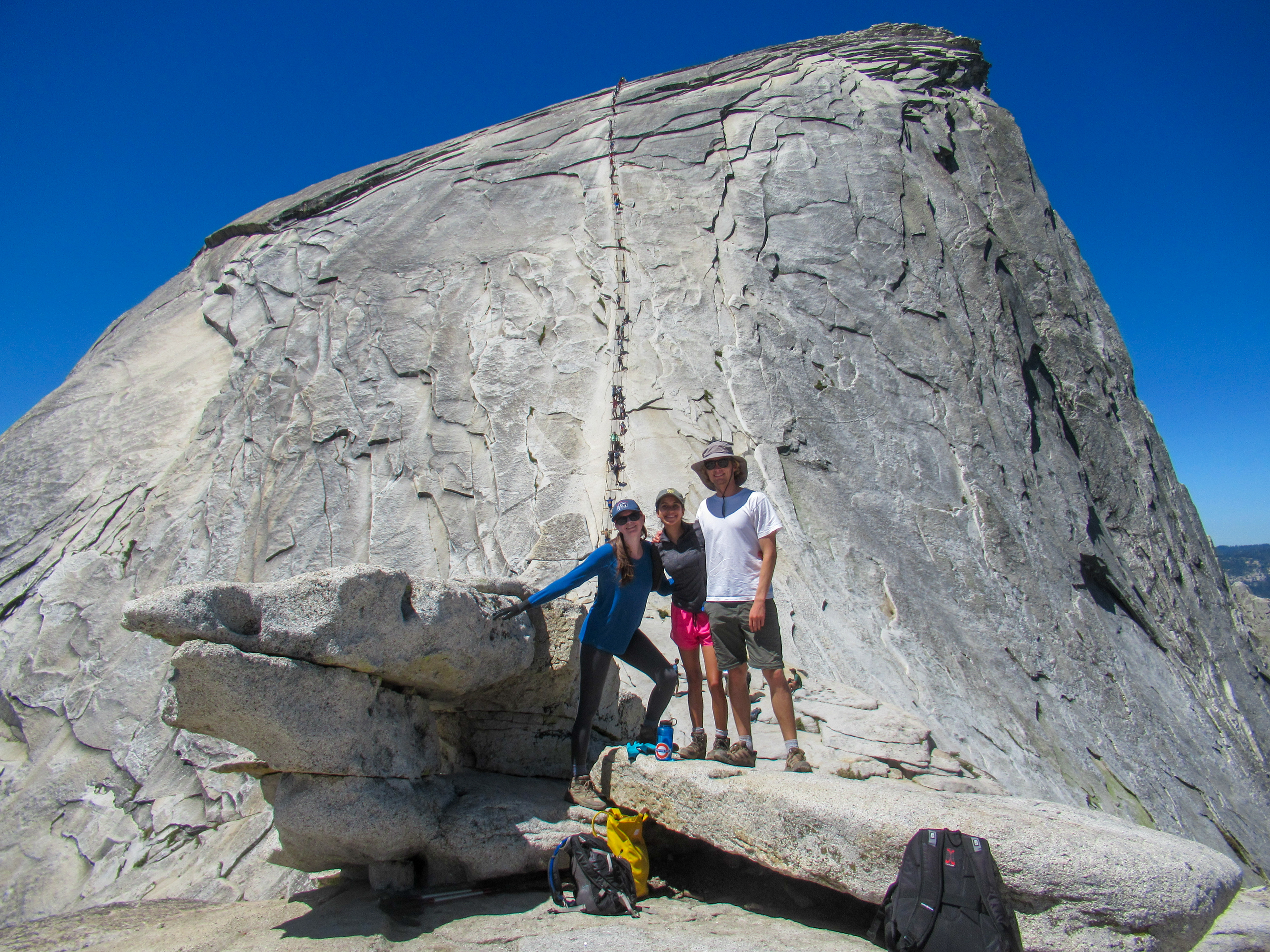 Arriving at the infamous Half Dome cables.