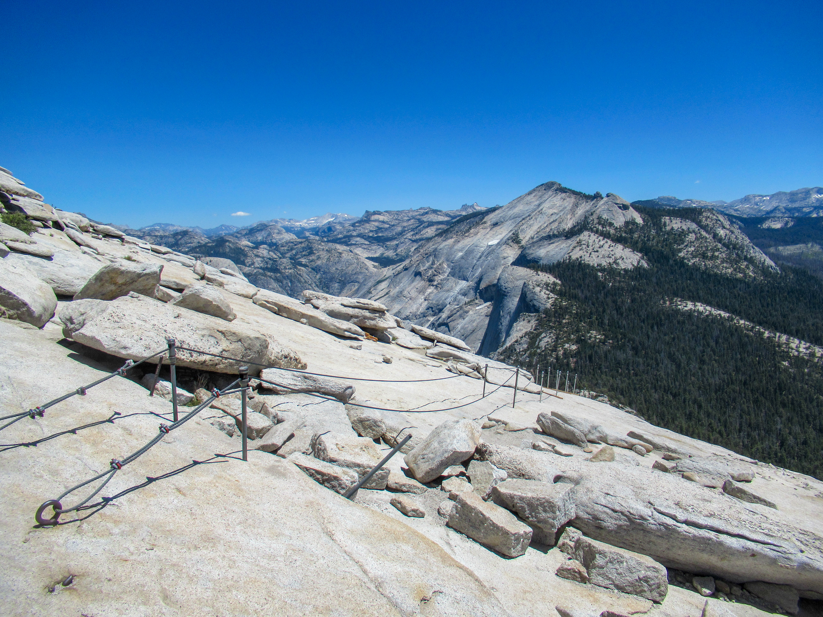 The infamous cables that allow access to the top of Half Dome.