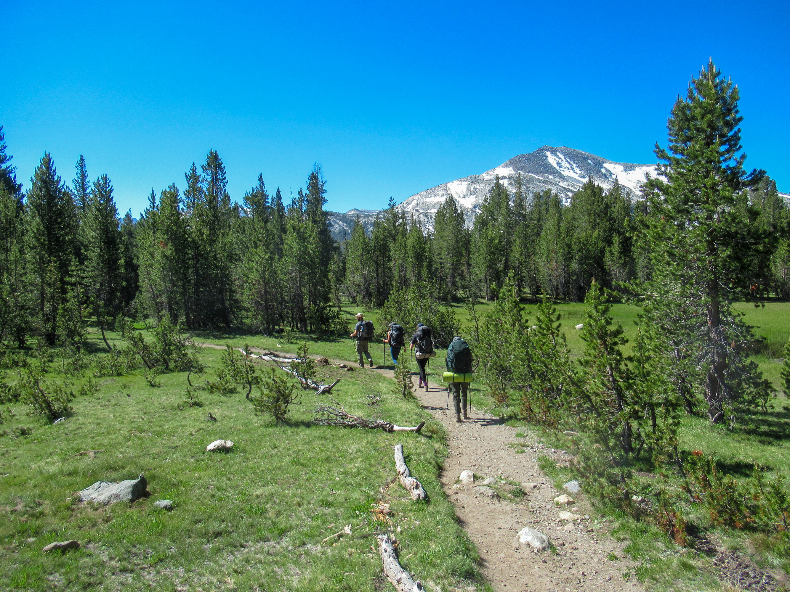Heading out for a backpacking trip over Mono Pass.