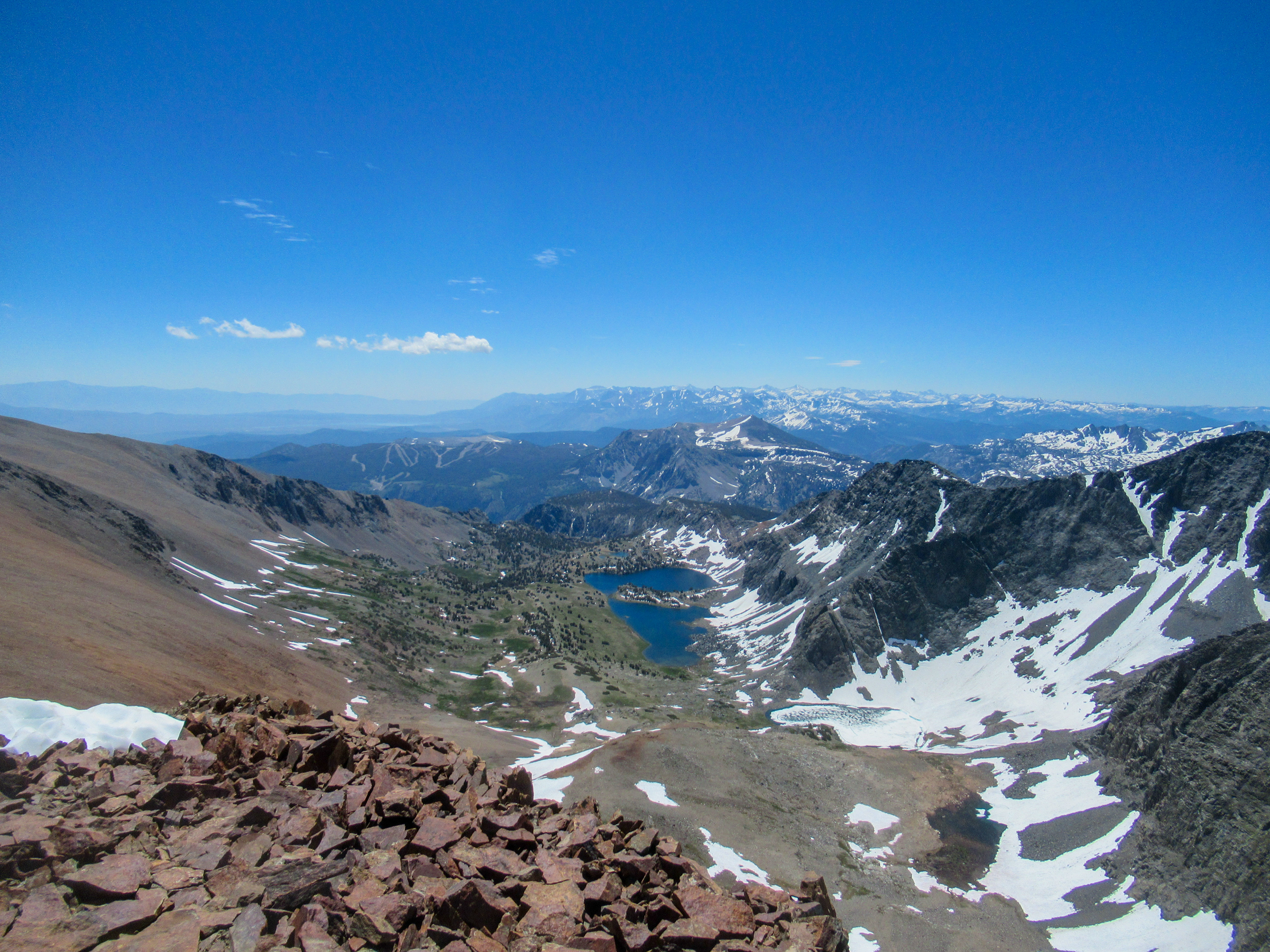 Views of Algers Lake and June Lake from Koip Peak.