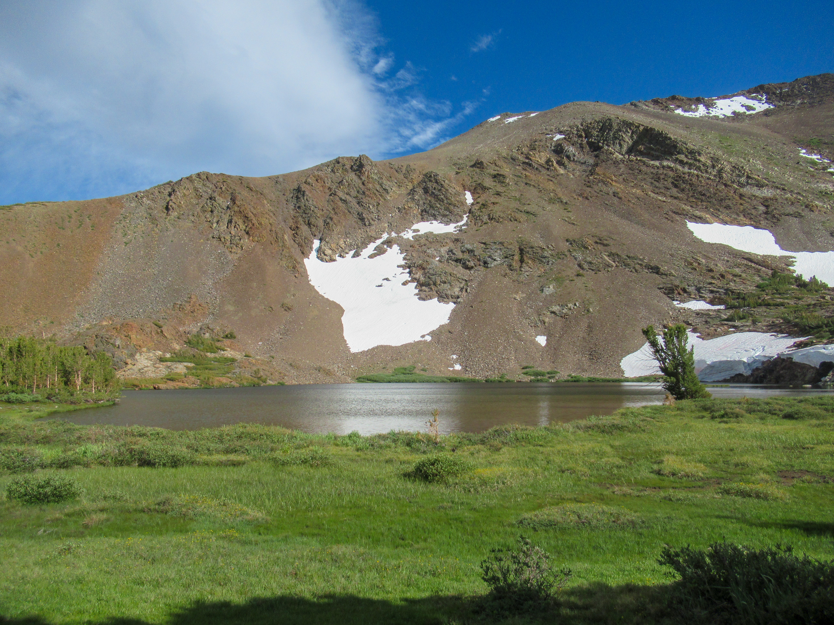 Upper Sardine Lake just over Mono Pass.