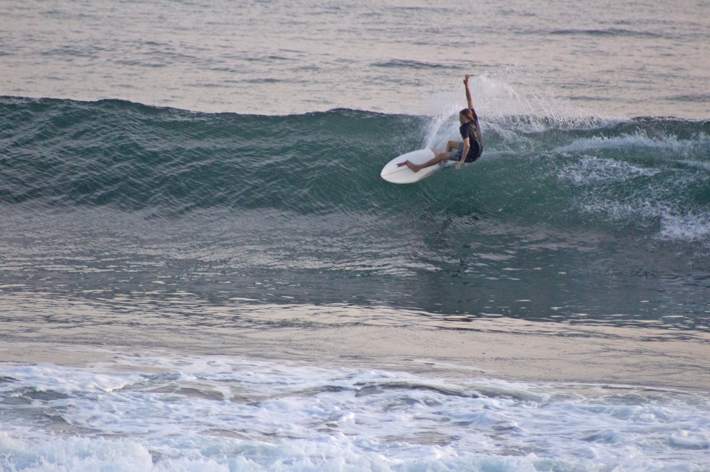 Evan Quarnstrom surfing at Punta Roca El Salvador.