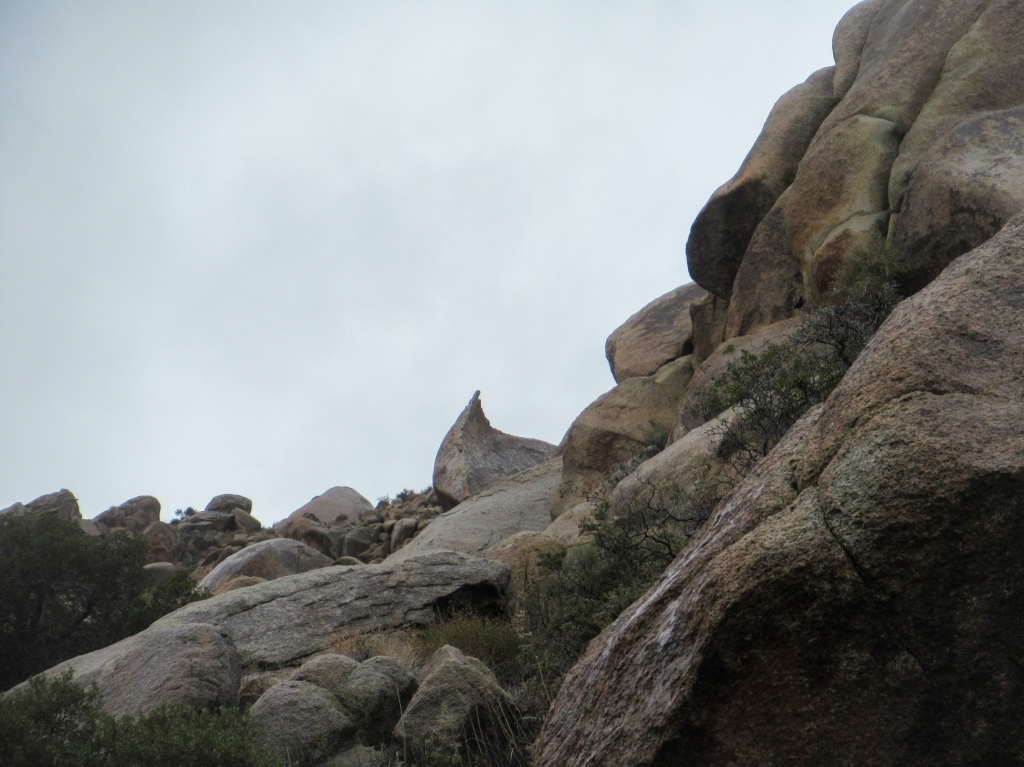 Granite boulders in the Anza Borrego desert.