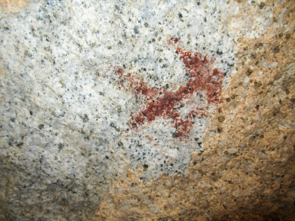Pictographs in the solstice cave of Anza Borrego.