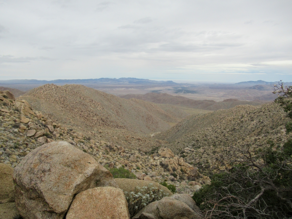 Mountains of Anza Borrego desert.