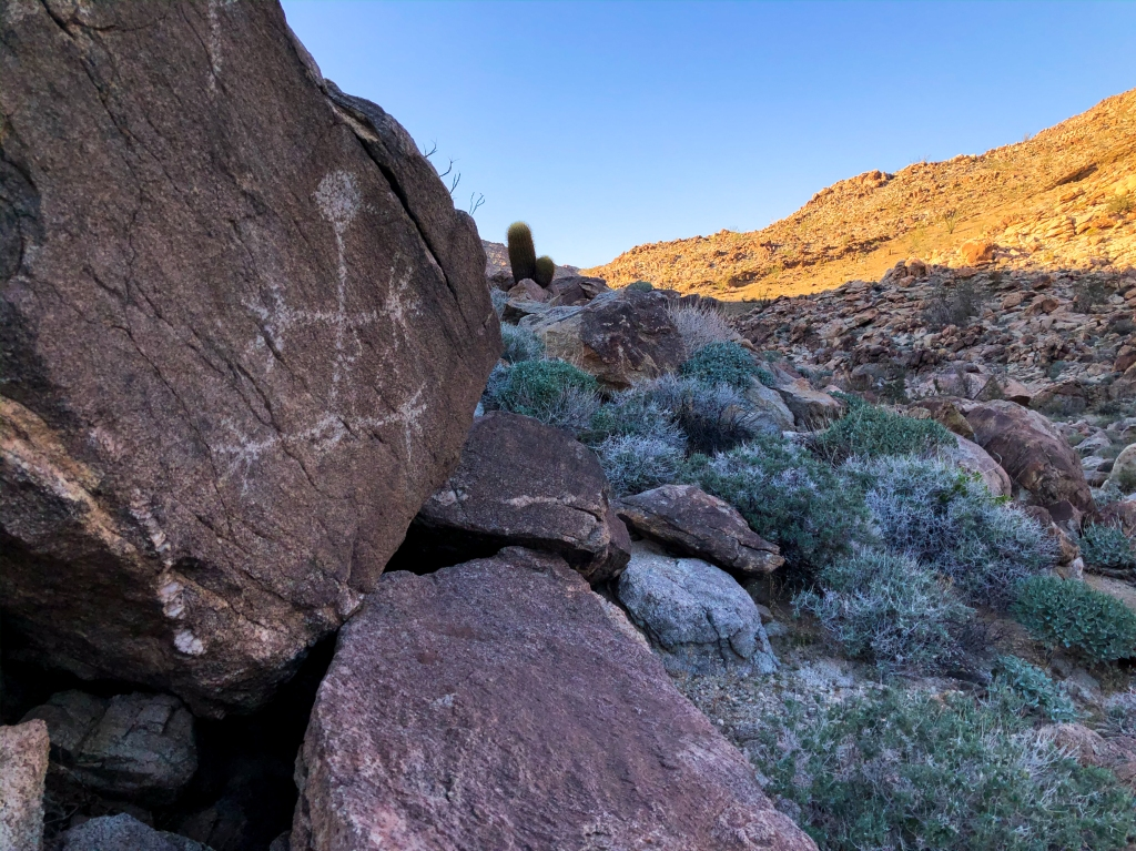 Petroglyphs near the Mexican border in California.