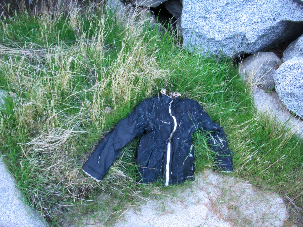 Jacket of an immigrant left behind.