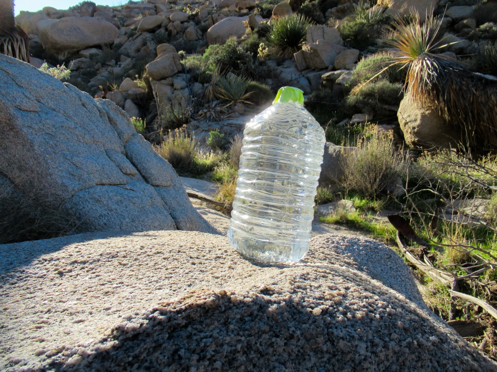 Water left for immigrants near the Mexican border.