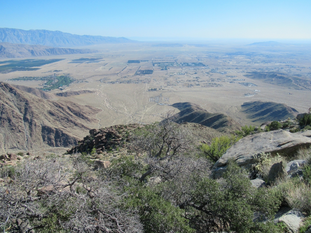 View of Borrego Springs as seen from San Ysidro Mountain.