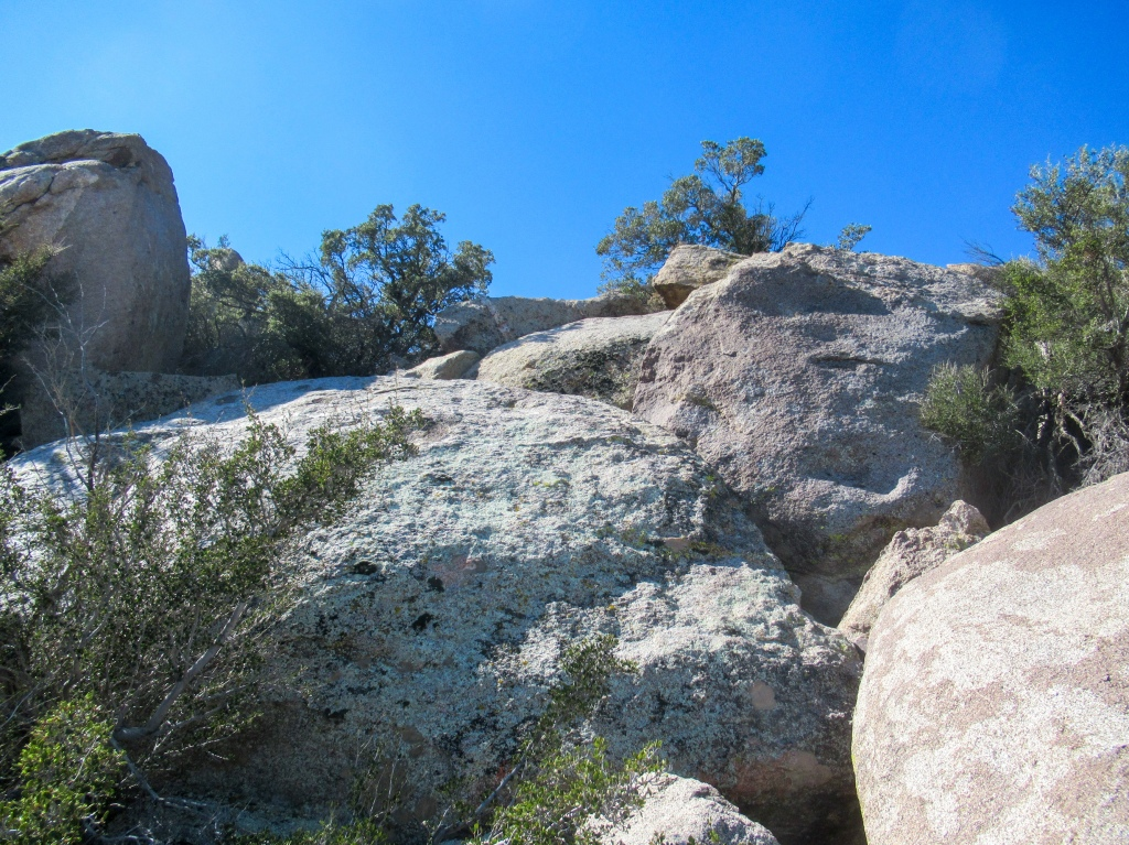 Boulders near the peak of San Ysidro Mountain.
