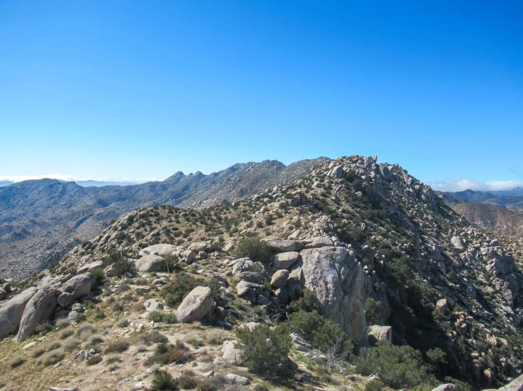 Views of the San Ysidro mountains ridge.