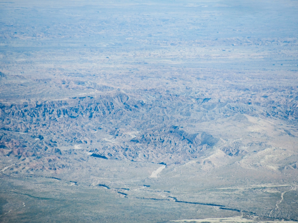 The Borrego badlands as seen from San Ysidro Mountain.