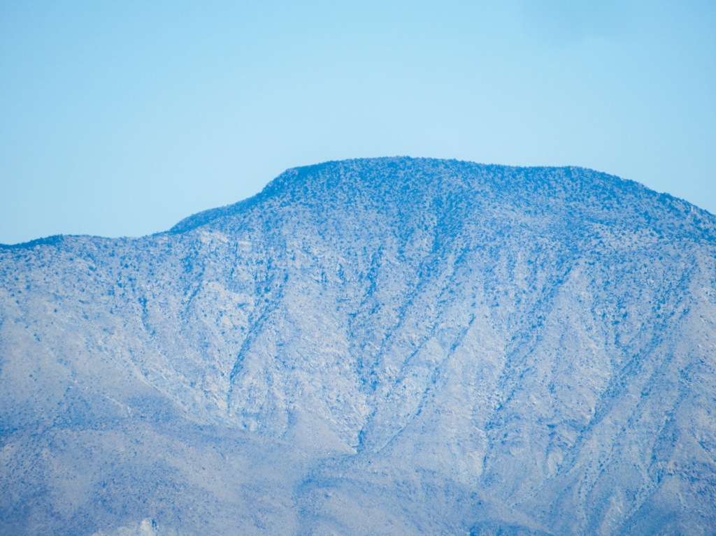 Rabbit Peak as seen from San Ysidro Mountain.