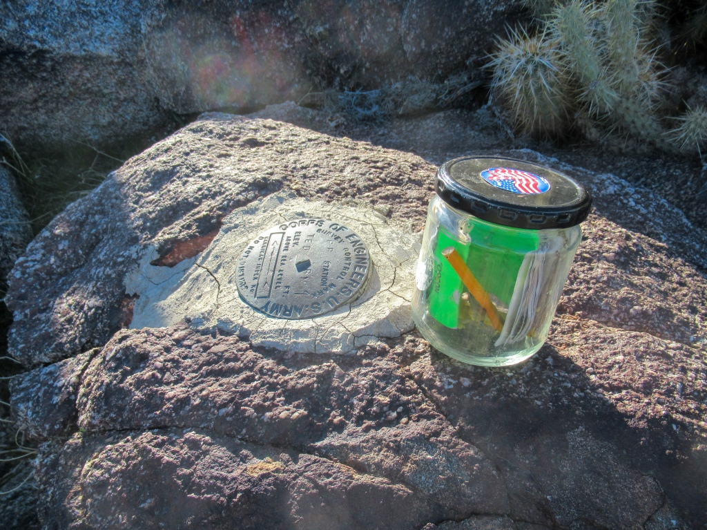 Ted Benchmark in the San Ysidro Mountains.