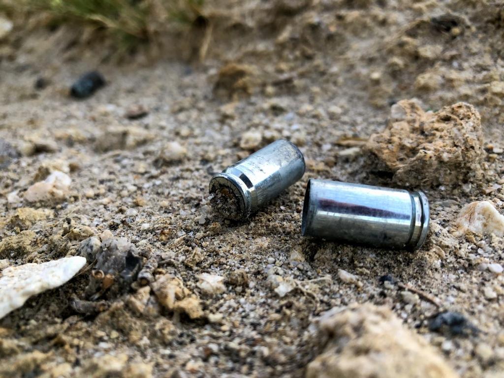 Bullets found on the desert ground near the Domelands near Anza Borrego.