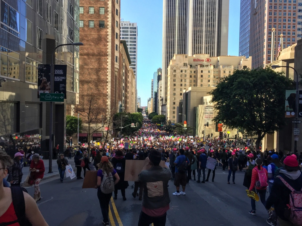 The Women's March of Los Angeles in 2017.