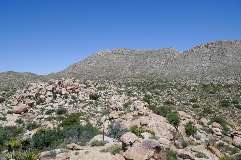 Approaching the base of Jacumba Peak.