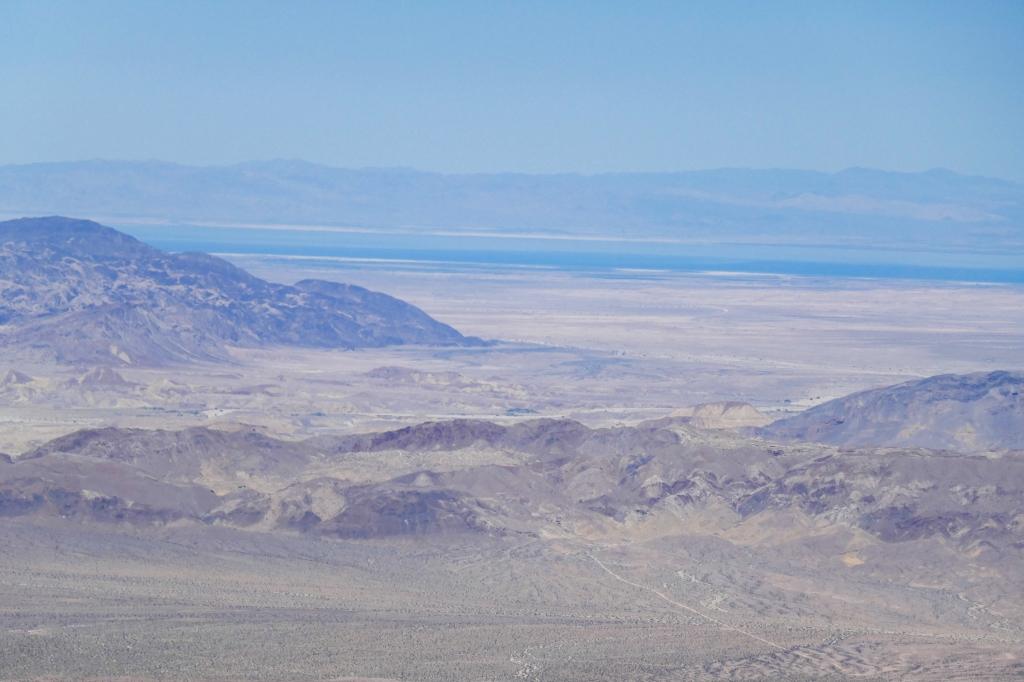 Looking at the Salton Sea from atop Jacumba Peak.
