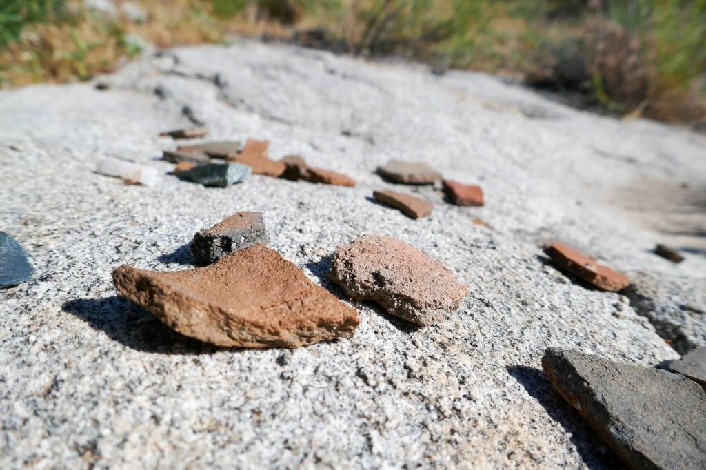 Native American potsherds found near Jacumba Peak.