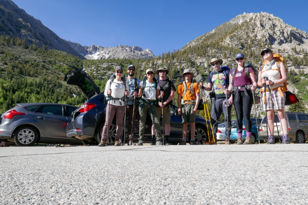 Onion Valley Campground start to backpacking trip.