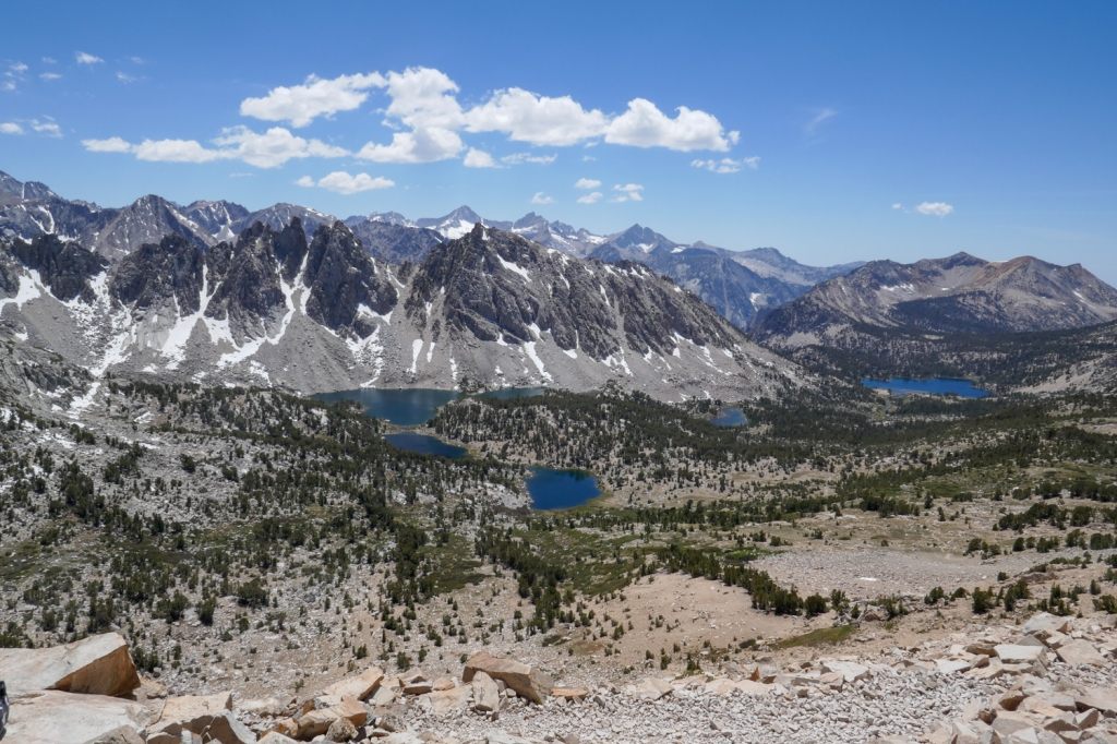 Hiking Kearsarge Pass, Sierra Nevada.