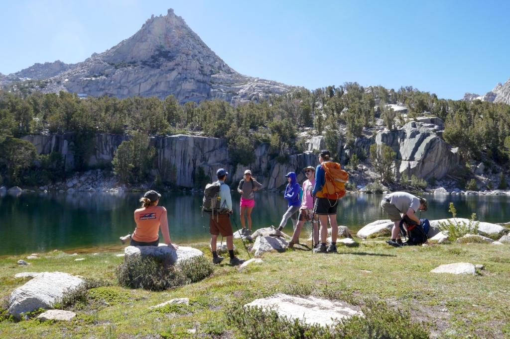Camping at Kearsarge Lakes, Sierra Nevada.