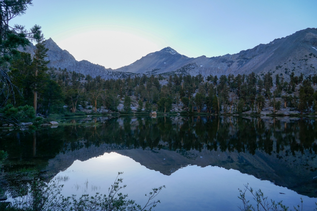 Matlock Lake reflection.