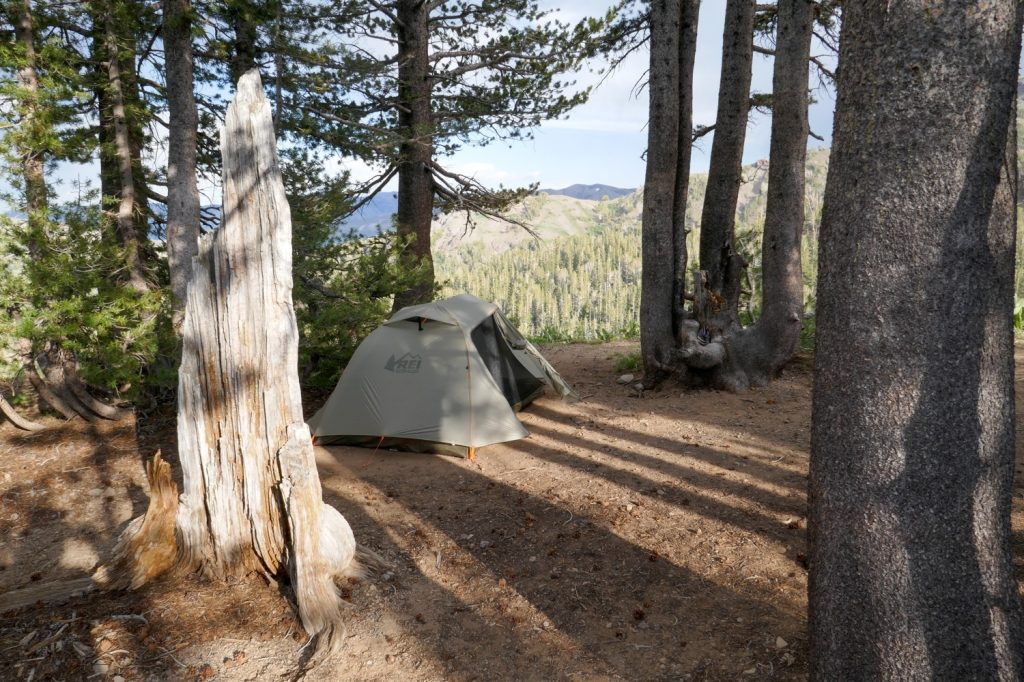 Camping at Sonora Pass, California.