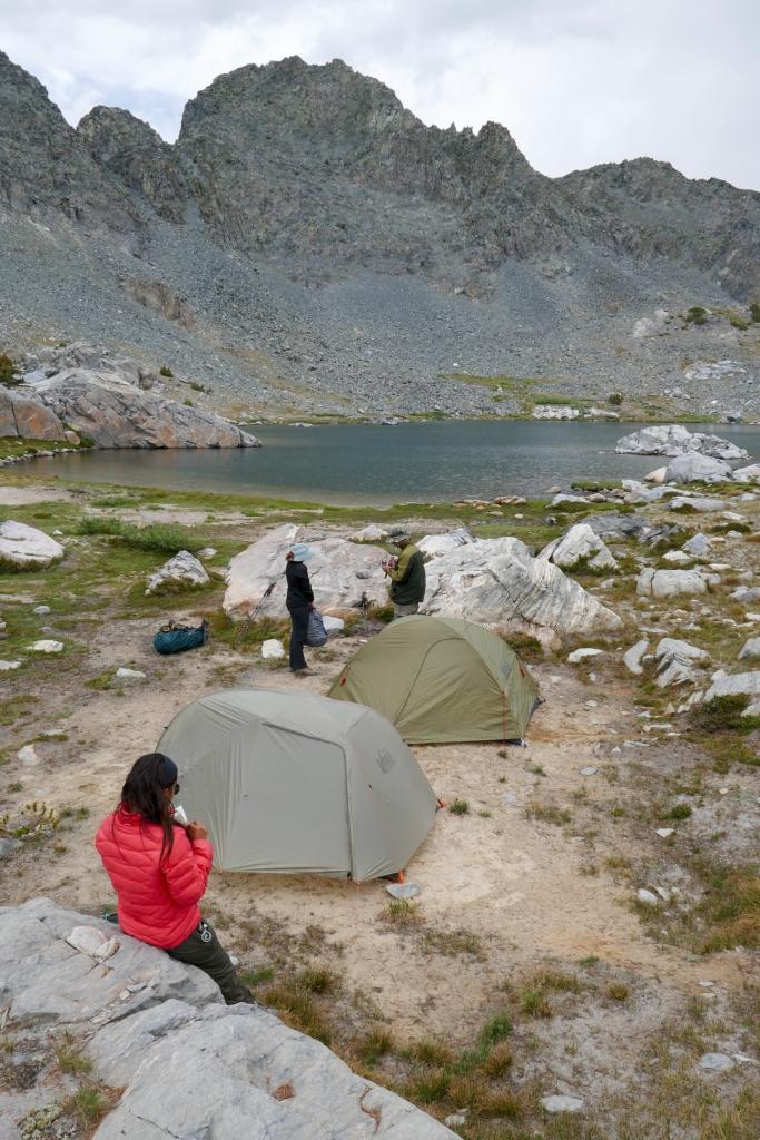 Camp at Deer Lakes, Mammoth.
