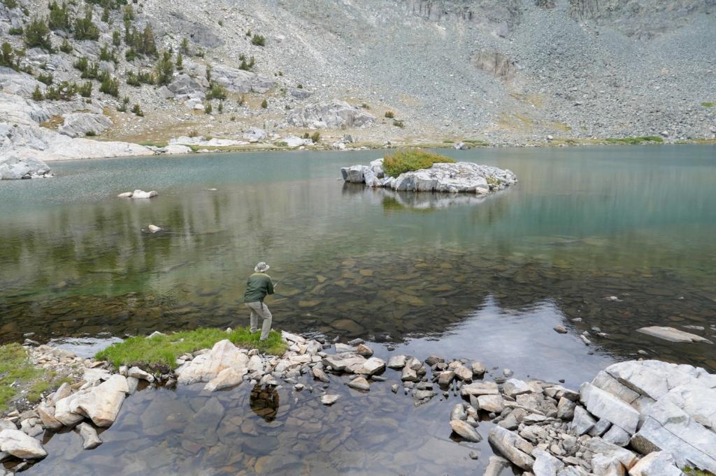 Fishing at Deer Lakes, Mammoth.