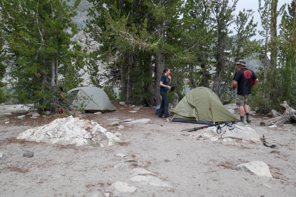 Camping at Pika Lake, Mammoth.